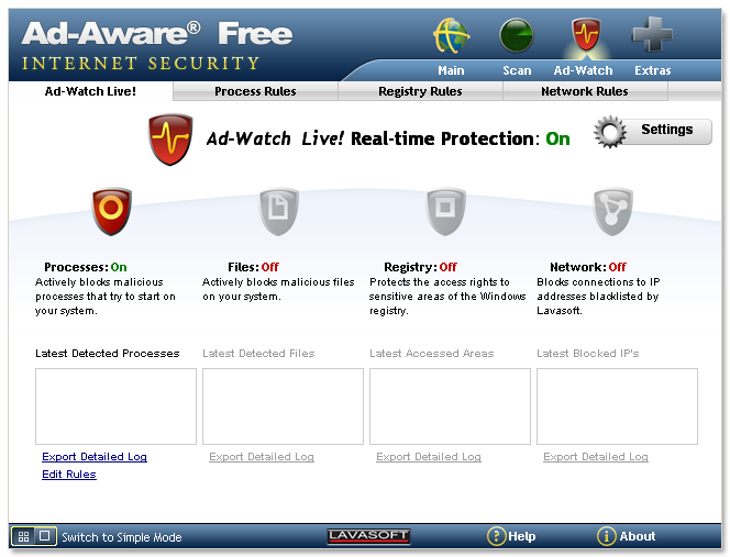 Ad-Aware Free Internet Security screenshot