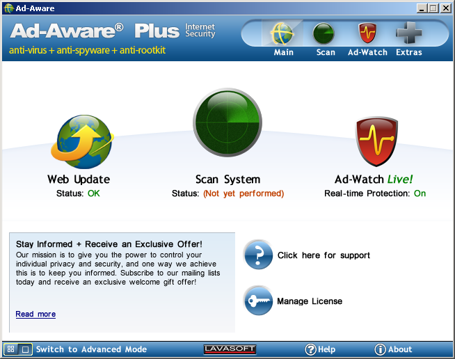 Ad-Aware 2007 7.0.1.6 (updated) Screenshot 3.