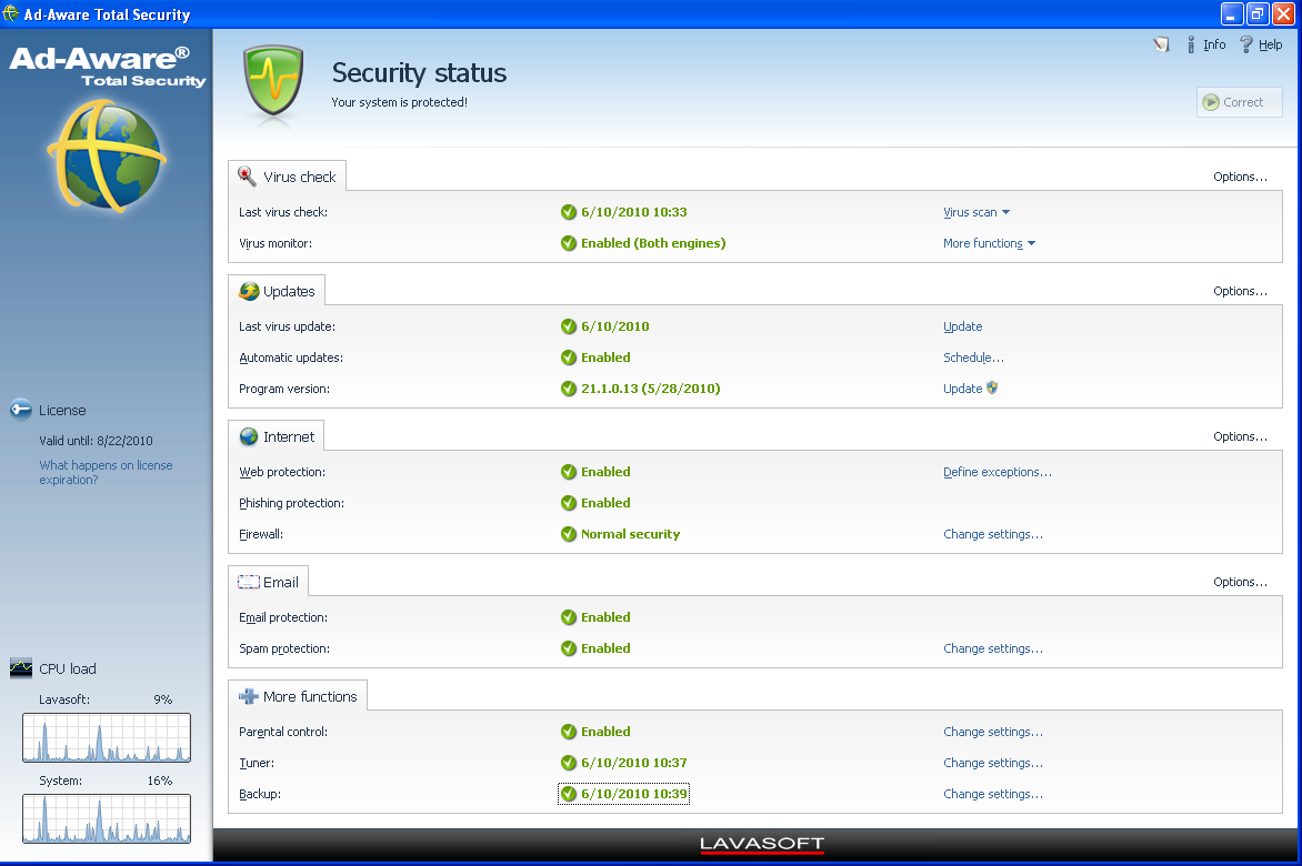 Ad-Aware Total Security screenshot