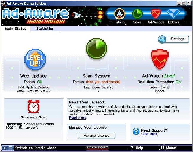 Ad-Aware Game Edition full screenshot