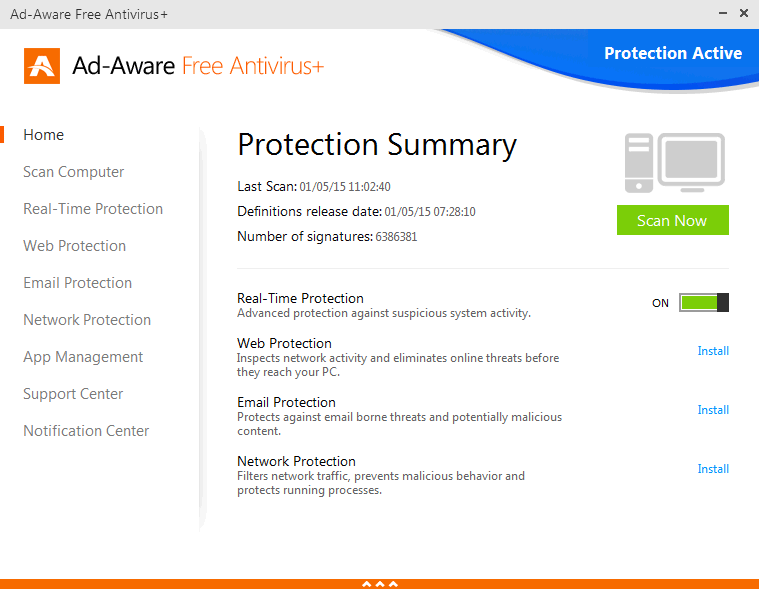 Ad-Aware Free Antivirus and Free Antispyware software