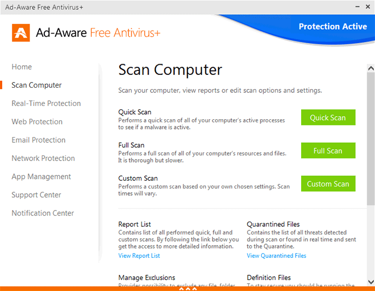 �������� ������� ����� ������� ������� �������� Ad-Aware Free Antivirus+ 11.5.200