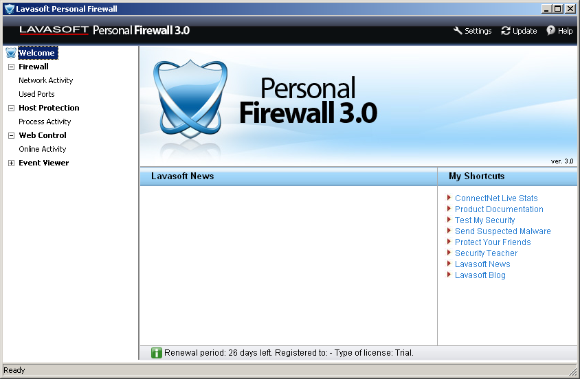 Lavasoft Personal Firewall (64-bit) screenshot