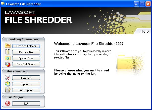 Windows 7 Lavasoft File Shredder 2009 7.7.0.2 full